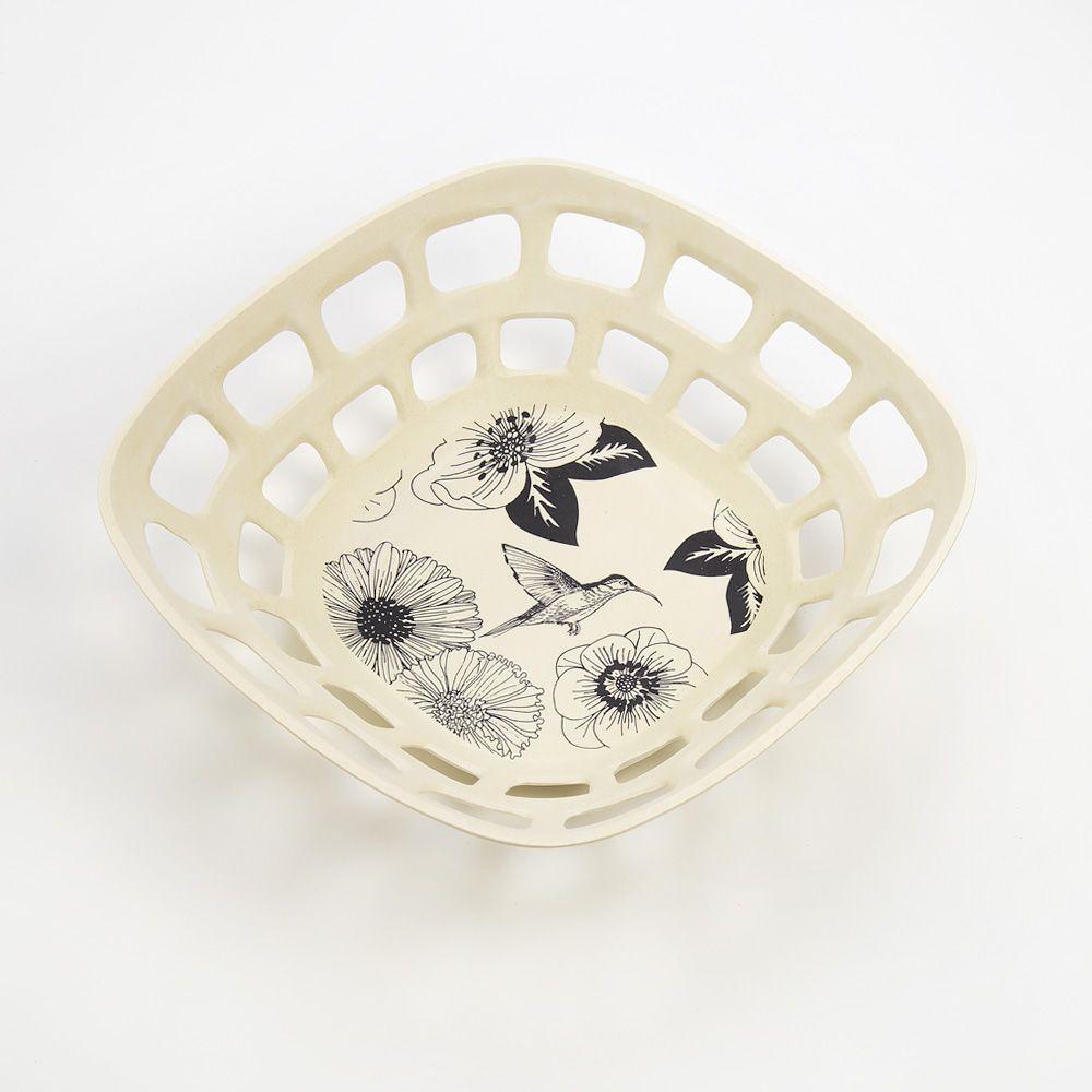 Monochromatic Bamboo Fruit Bowl