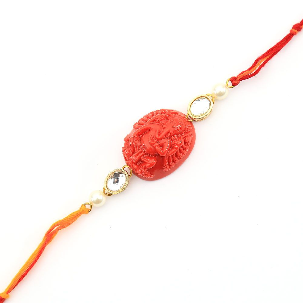 Red Pearl Love Rakhi