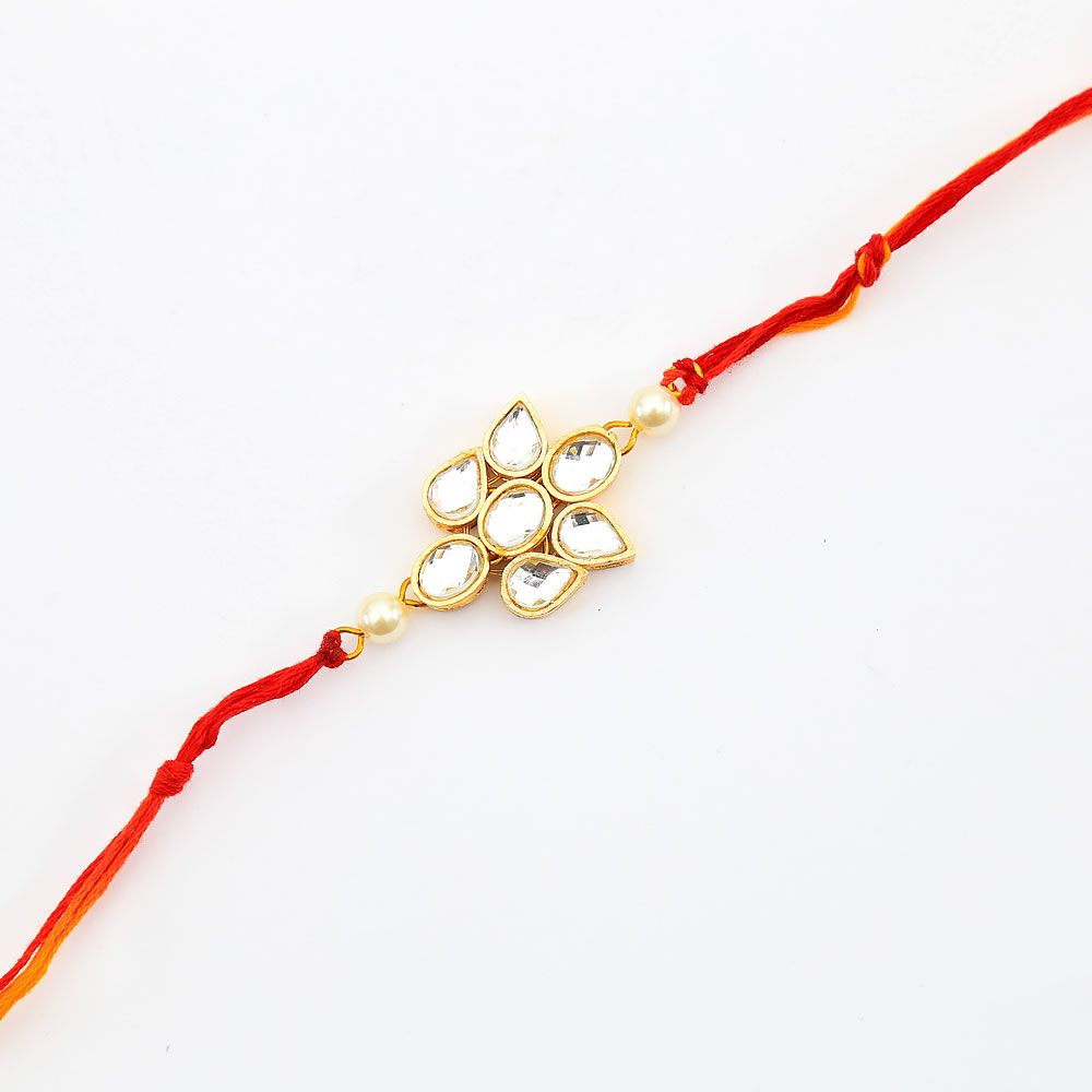 Lotus Centred Gem Rakhi