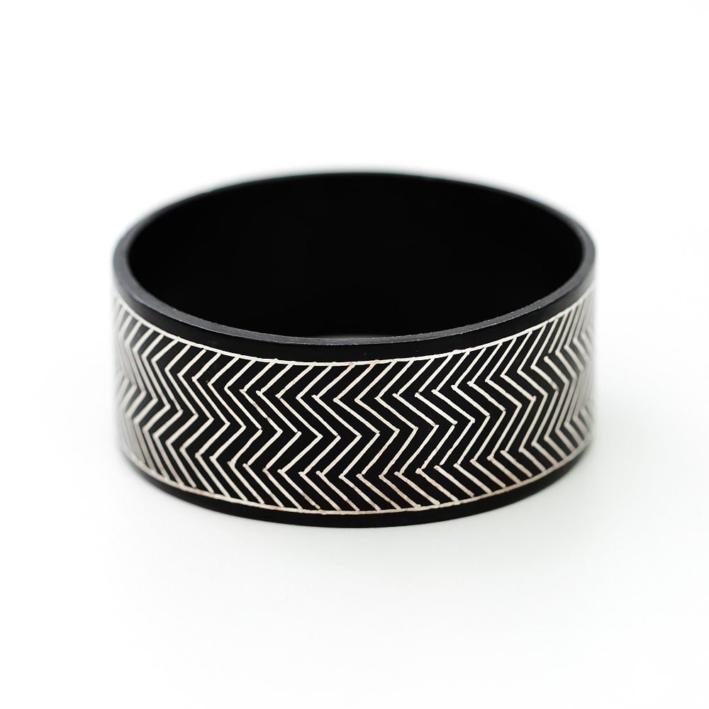 Ancient Chevron Bidri Bangle