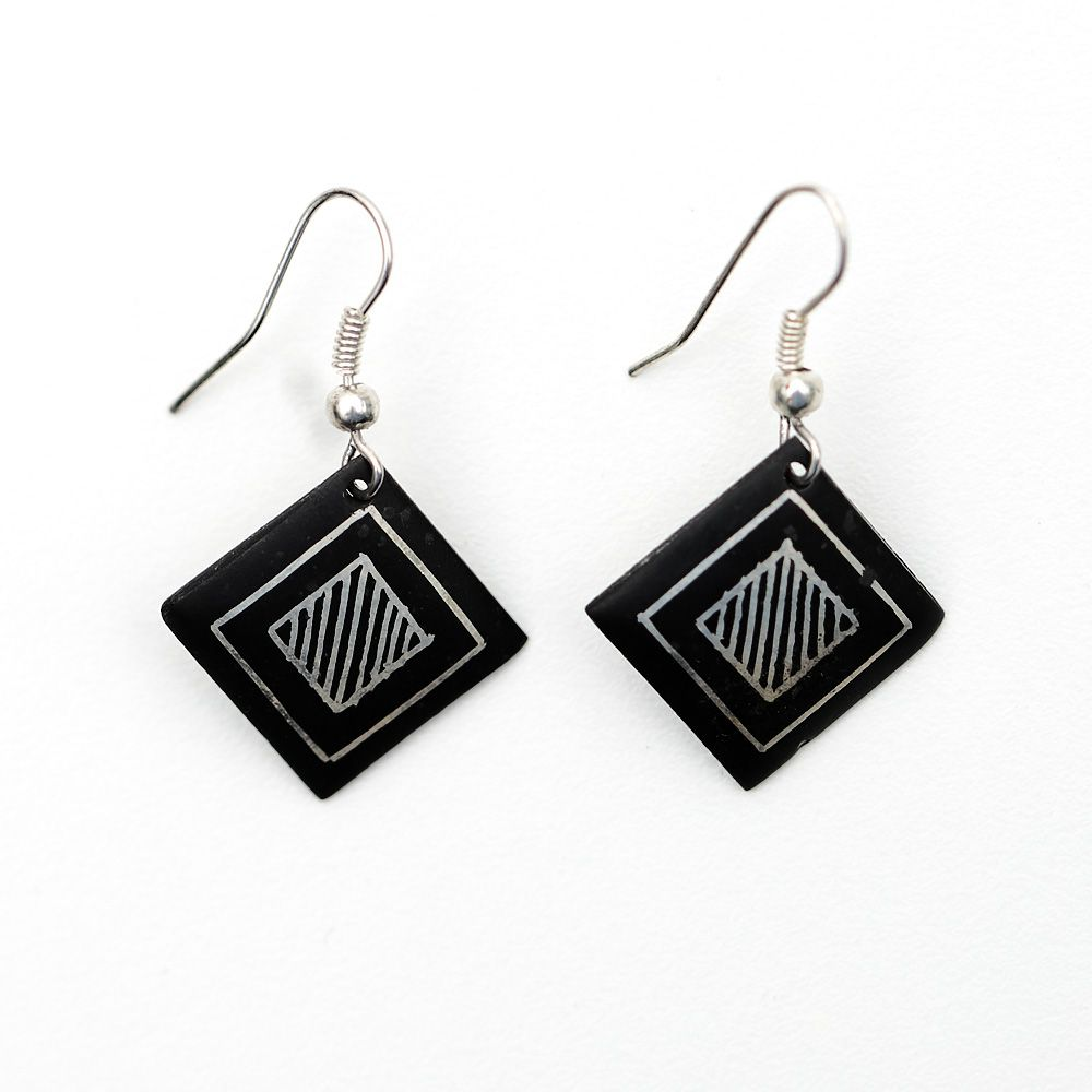Squares of Bahamani Earrings