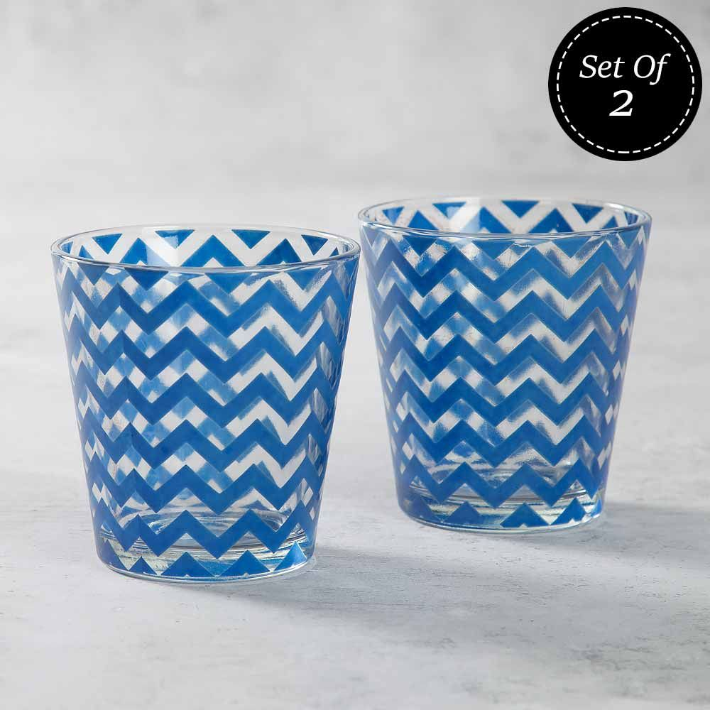 Chevron Melavo Glass Tumbler (Set of 2)