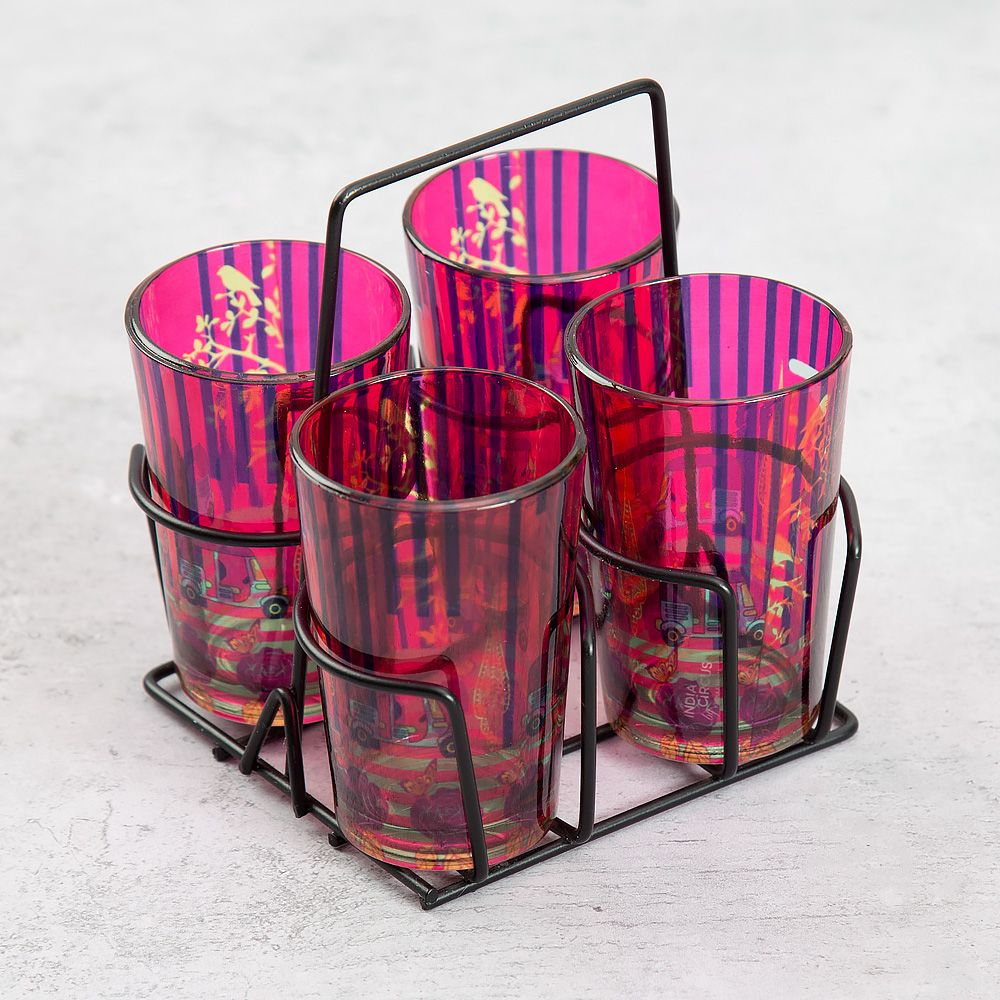 Three Wheeled Coupe Chai Glasses (Set of 4)
