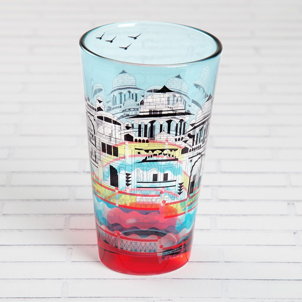 Castle of Living Waters Glass Tumbler