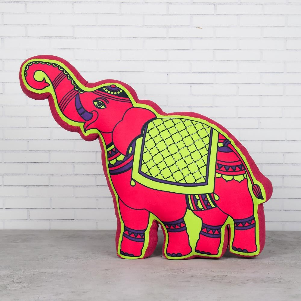 Funky Elephants Shaped Cushion