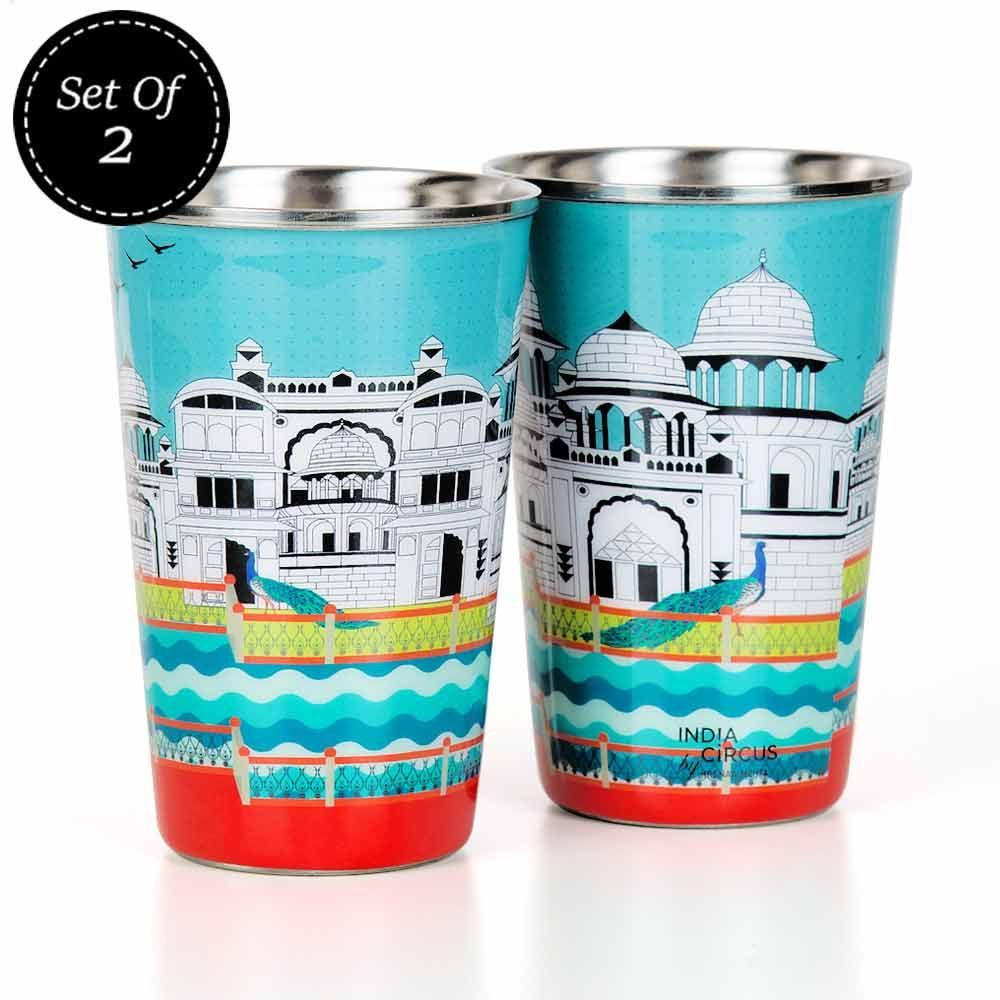 Castle of Living Water Steel Tumbler (Set of 2)