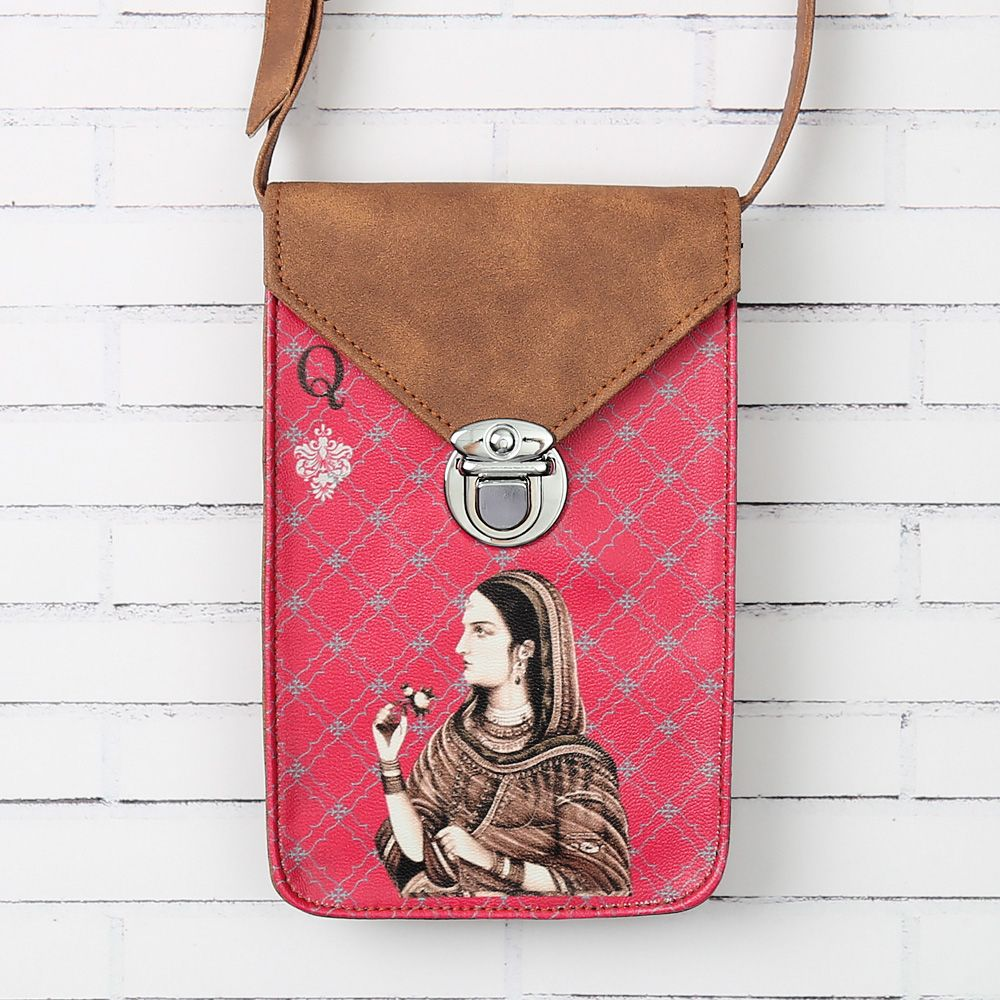 Mughal Queen Playing card Small Sling Bag