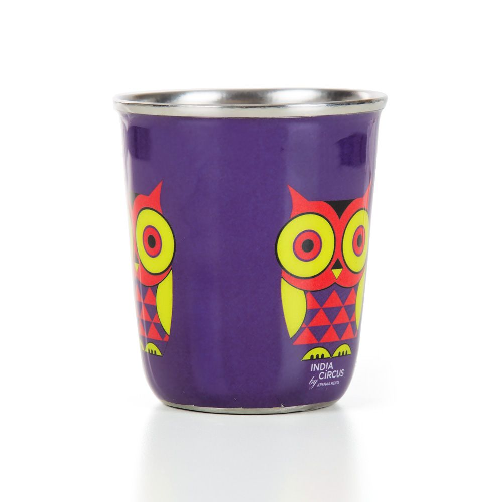 Peeking Owls Small Steel Tumbler (Set of 2)