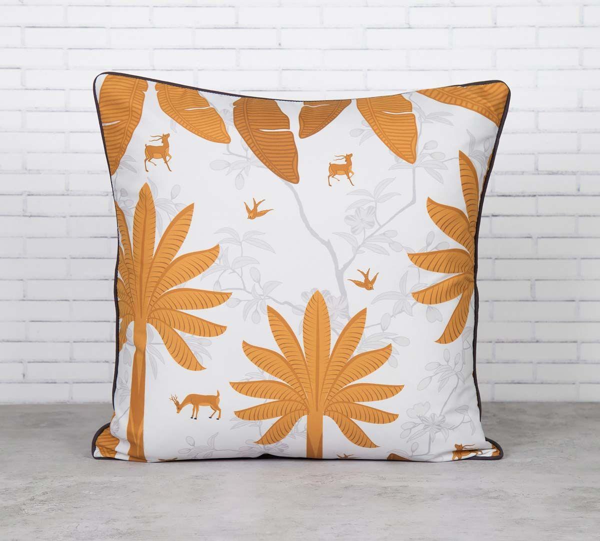 Brooding Woodlot Satin Blend Cushion Cover