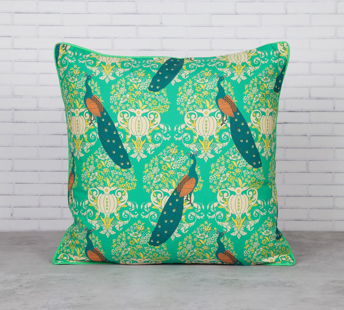 Muster of Eloquence Satin Blend Cushion Cover