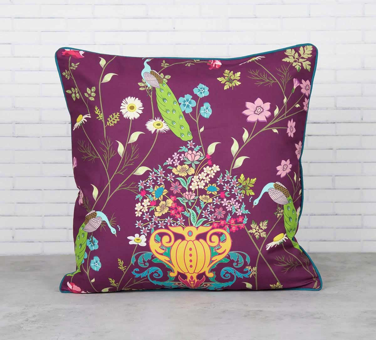 Enchanted Yield Satin Blend Cushion Cover