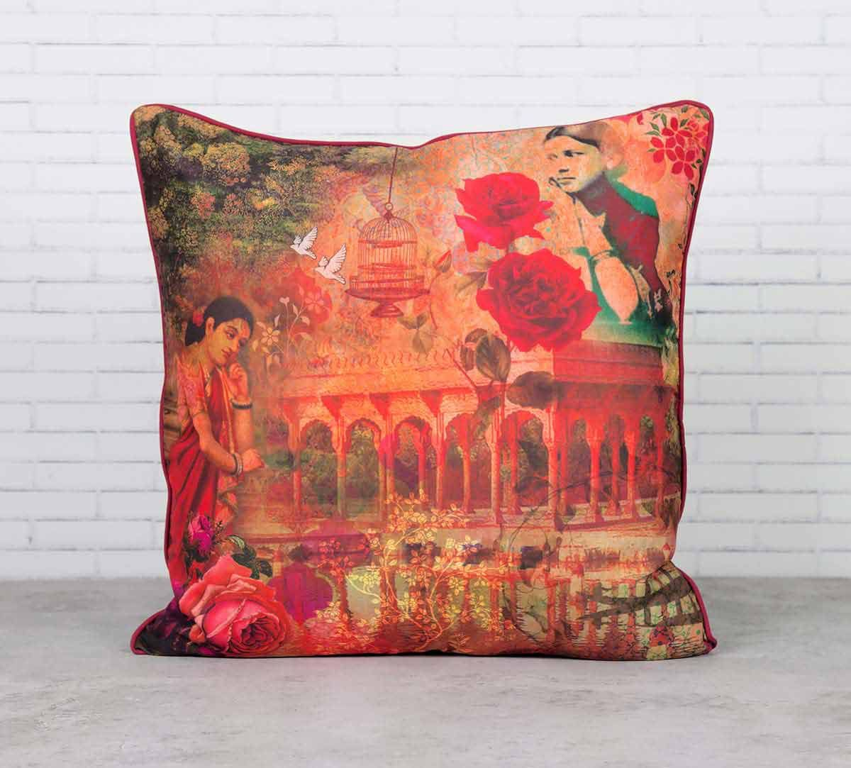 Forlorn Fates Satin Blend Cushion Cover