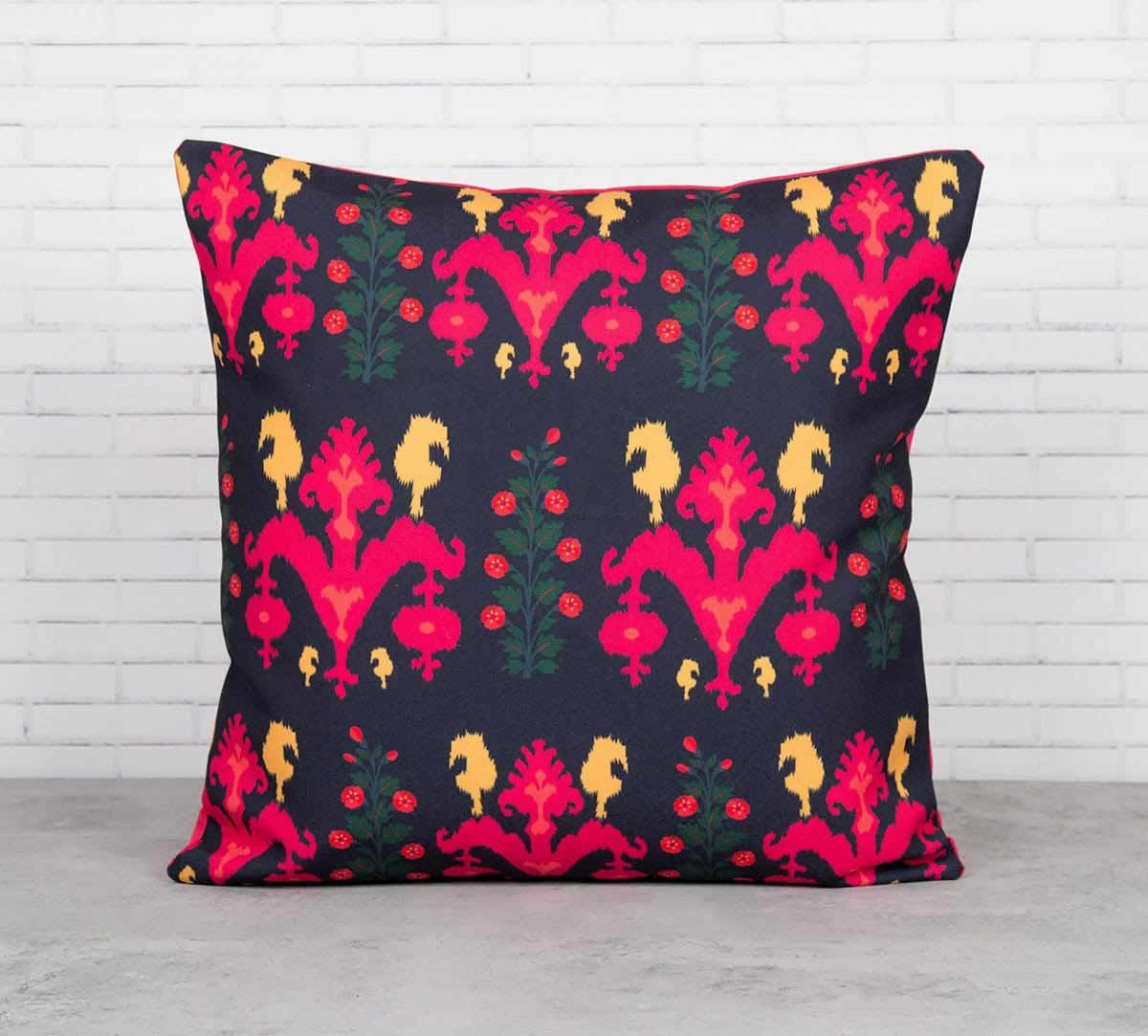 Sunshine Florist Canvas Blend Cushion Cover