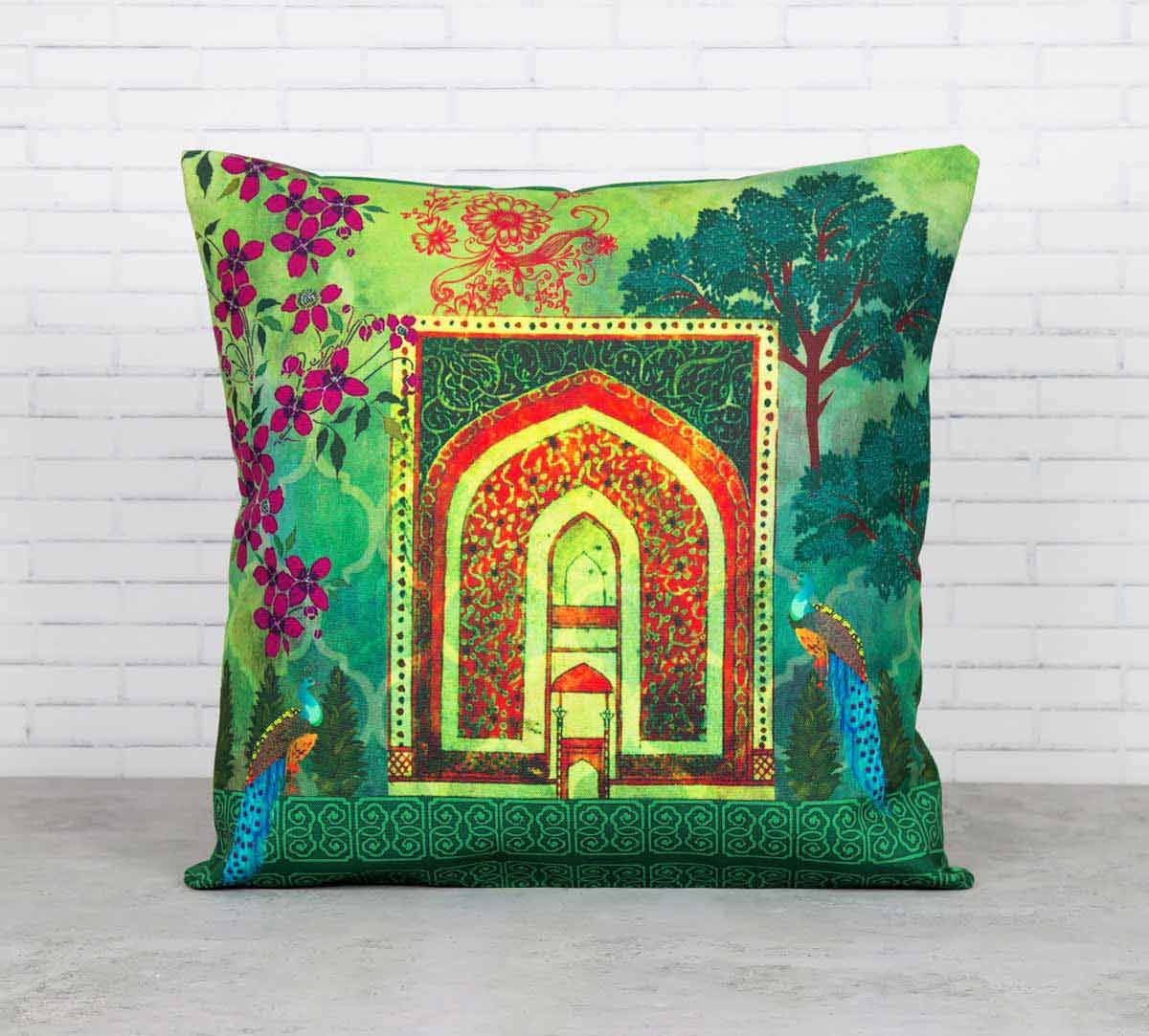 Daedalian Ingress Canvas Blend Cushion Cover