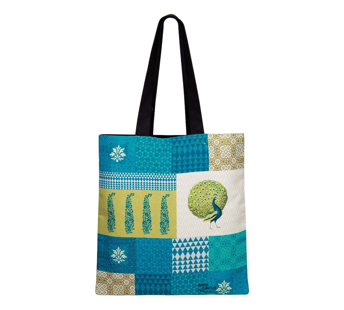 Geometric Pirouette Jhola Bag