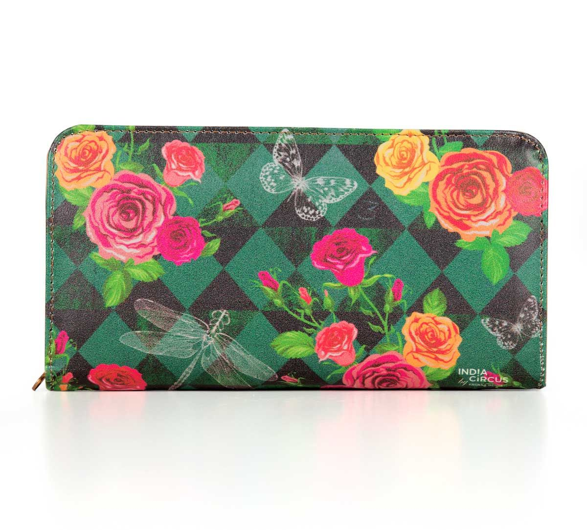 Floral Flutter Zipper Wallet