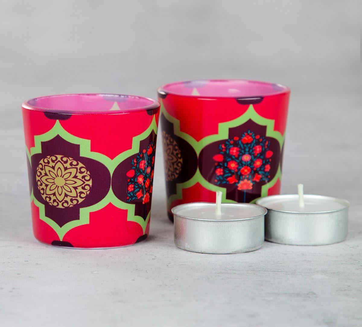 Latticed Synergy Tea Light Holder (Set of 2)