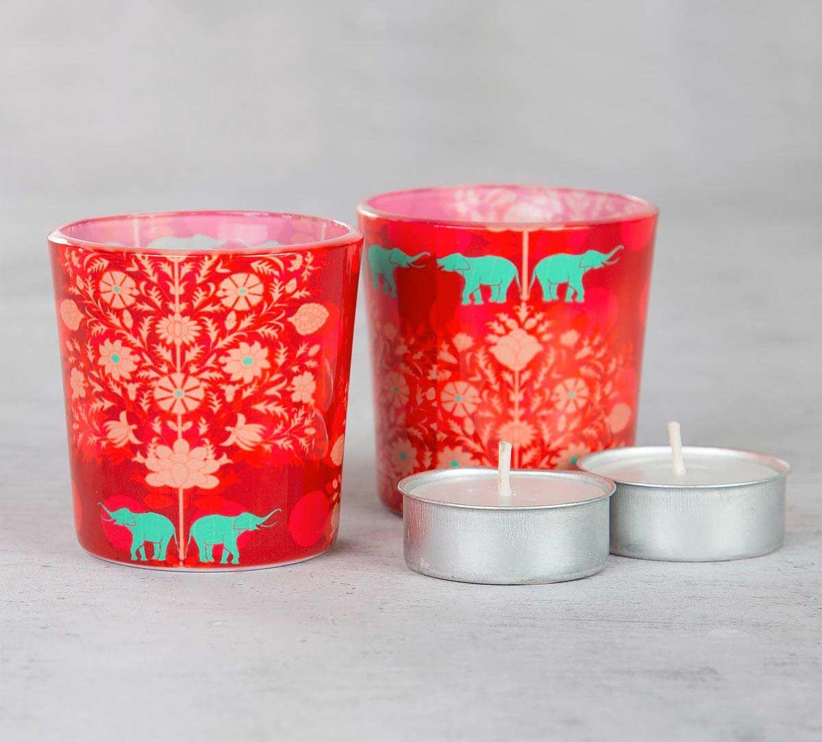 Siamese Boscage Tea Light Holder (Set of 2)