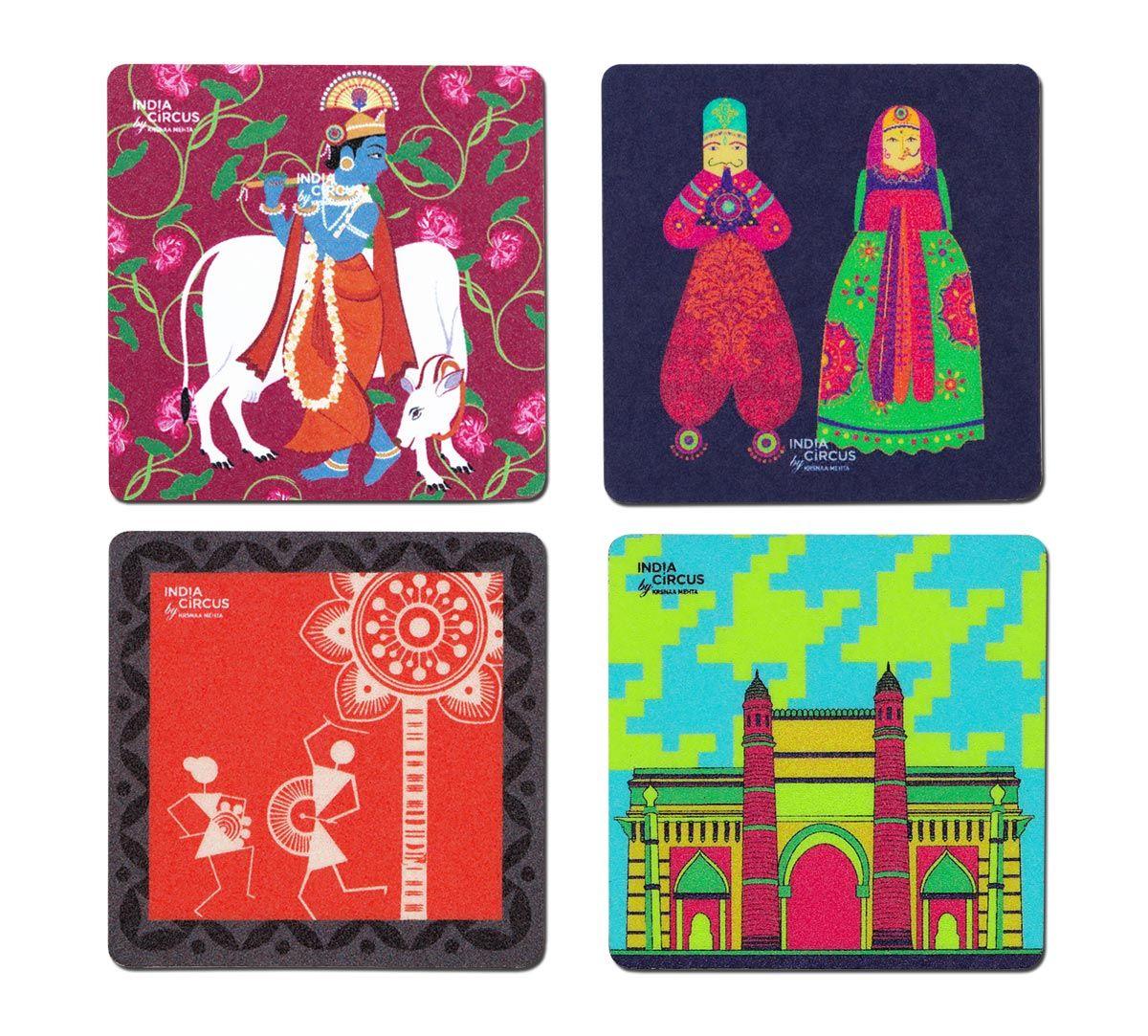 Krishnas Delight Fridge Magnet (Set of 4)