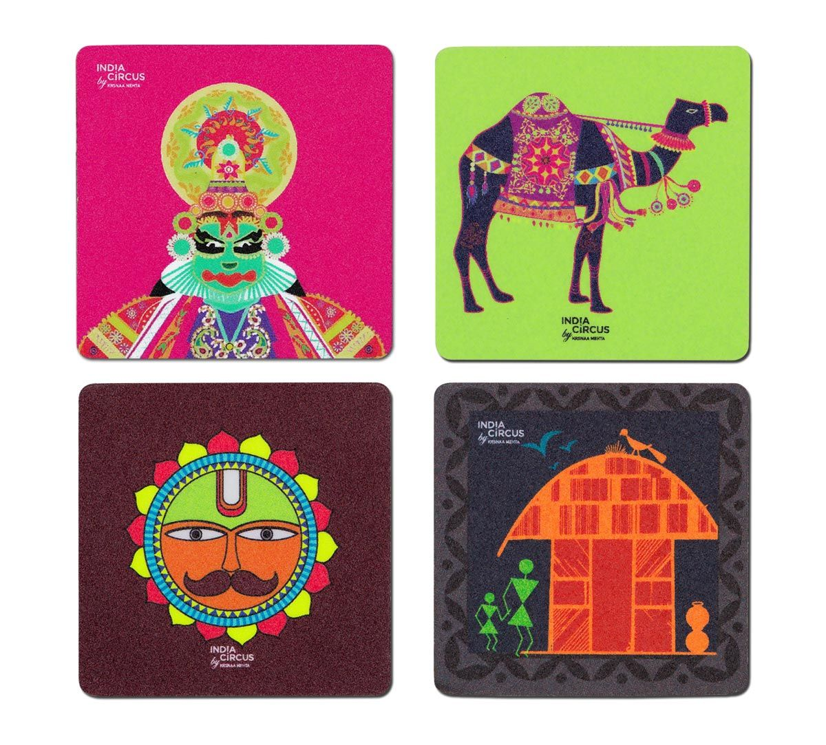 Indie Expression Fridge Magnet (Set of 4)