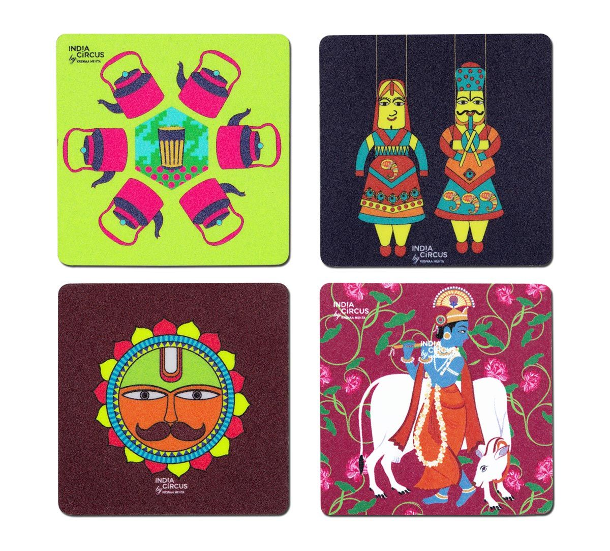 Lucid Yatra Fridge Magnet (Set of 4)