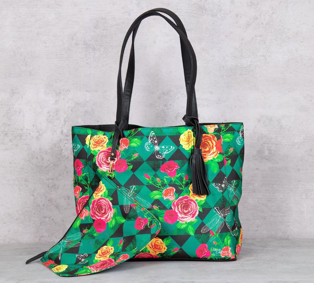 Floral Flutter Reversible Bag