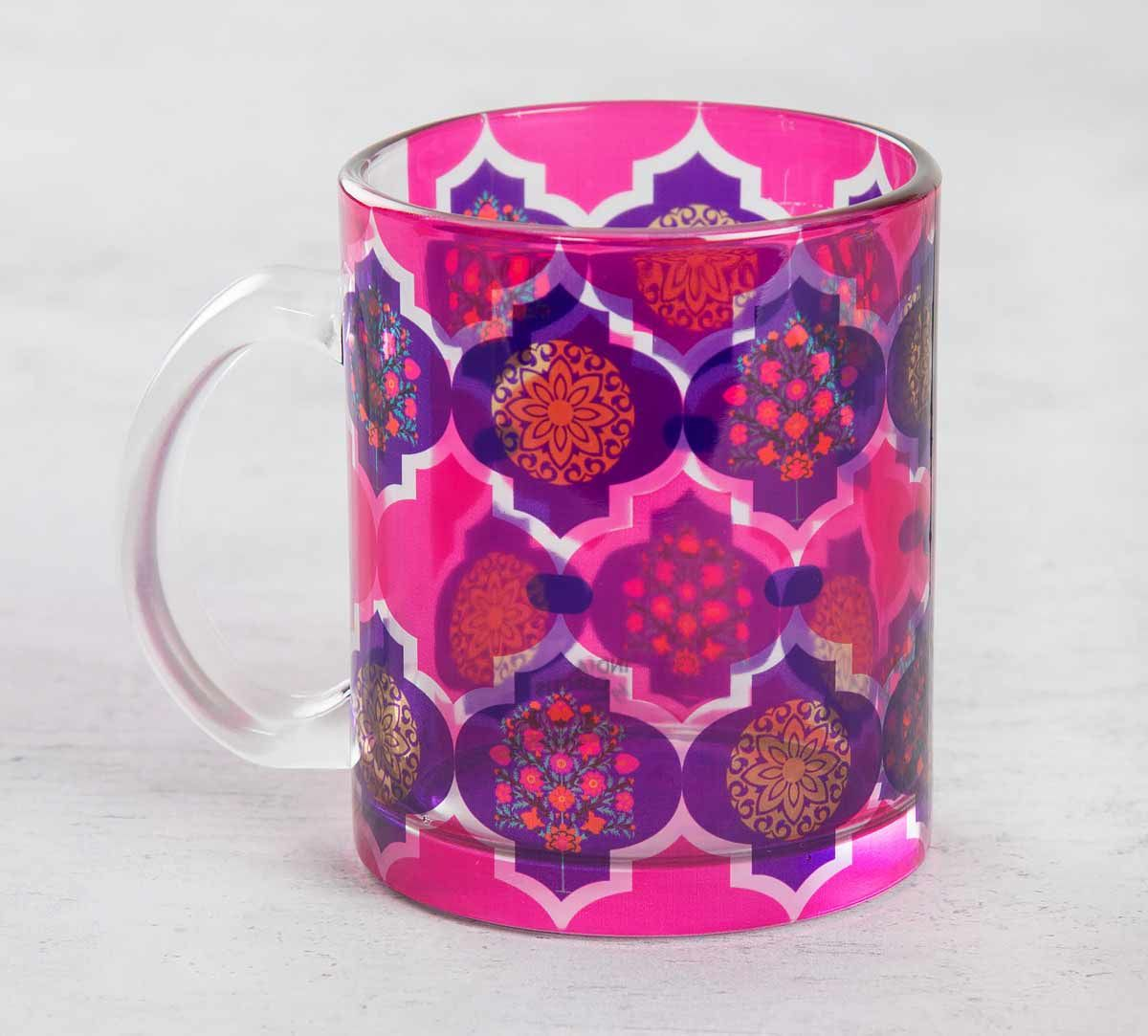 Latticed Synergy Glass Mug