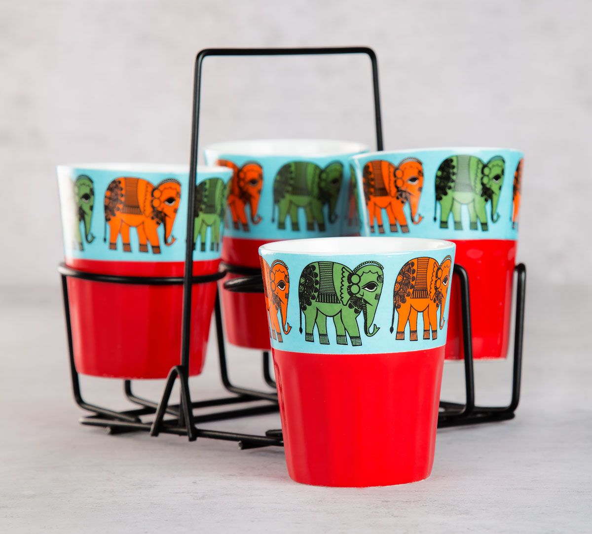 Haathi Howda Yatra Chai Glasses (Set of 4)