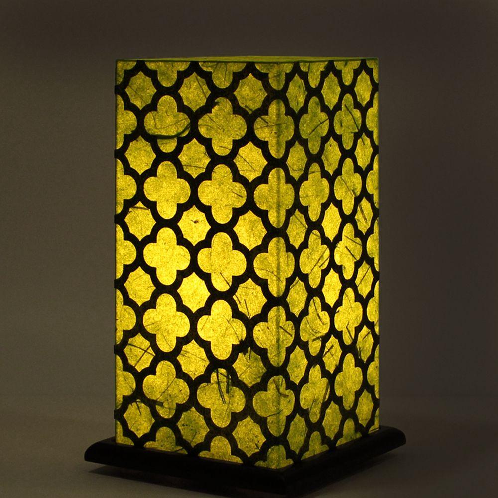 Bohemian Green Treillage Table Lamp