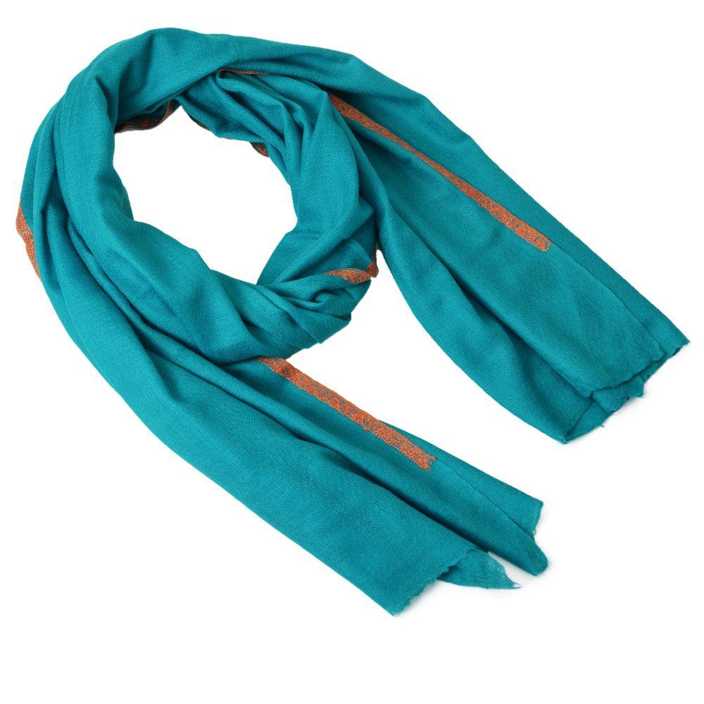 Celestial Blue Cashmere Shawl
