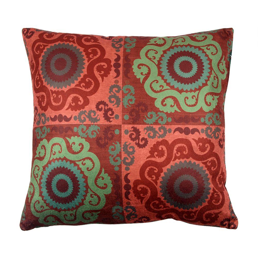 Checkered twirls Poly Velvet Cushion Cover-11148