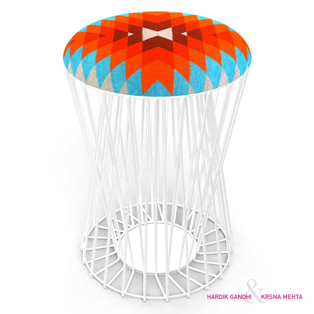 Colour Spectrum Wiro Stool