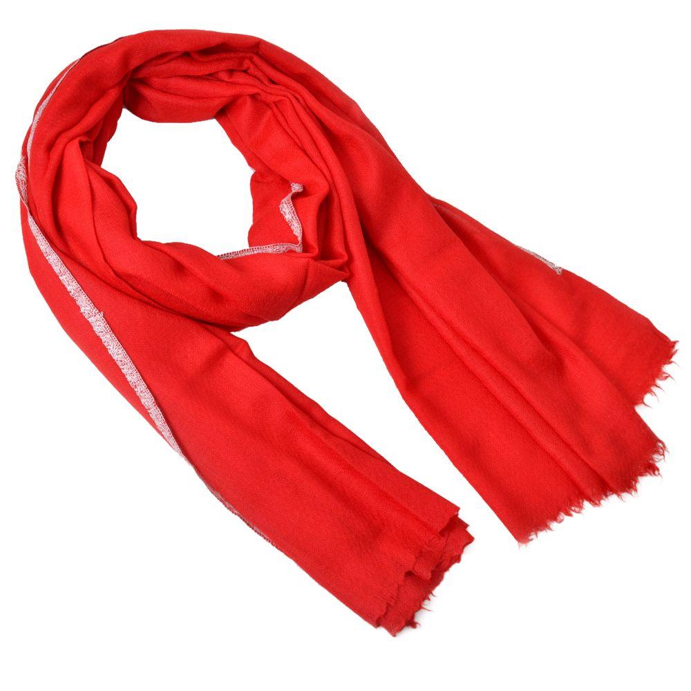 Crimson Garnet Cashmere Shawl
