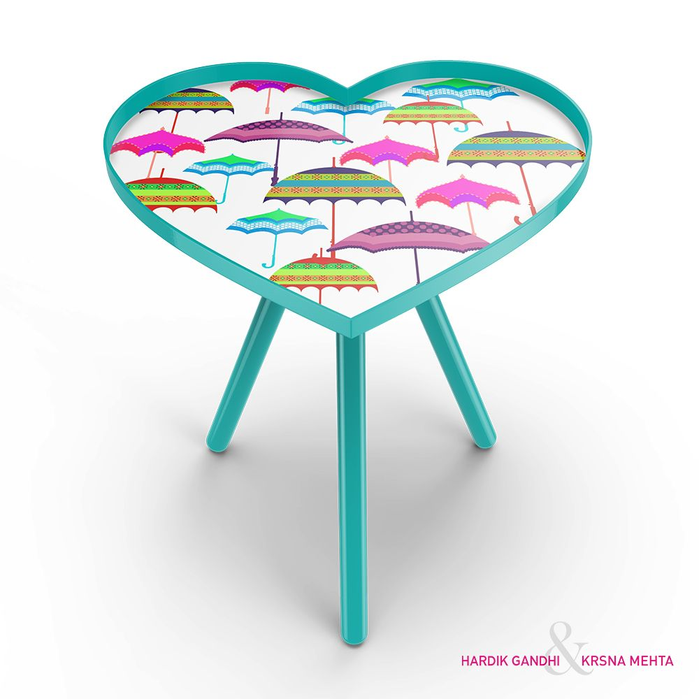 Fab Umbrellas Heart Side Table