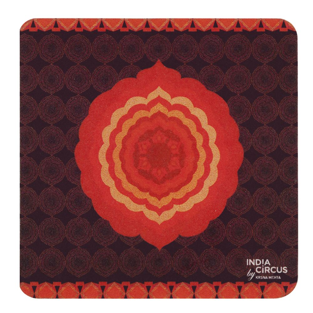 Flaming Flower Rubber Coasters - (Set of 6)