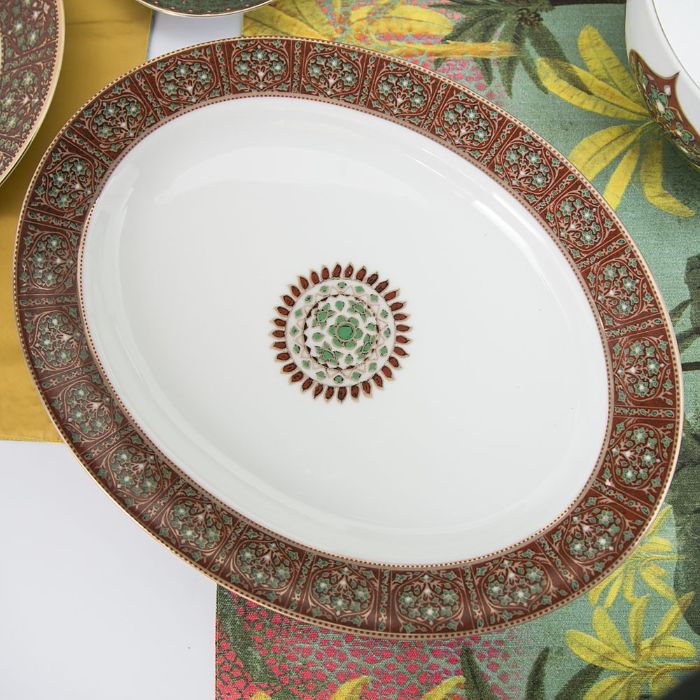 Flower Diamonds Rice Plate-13425.jpg