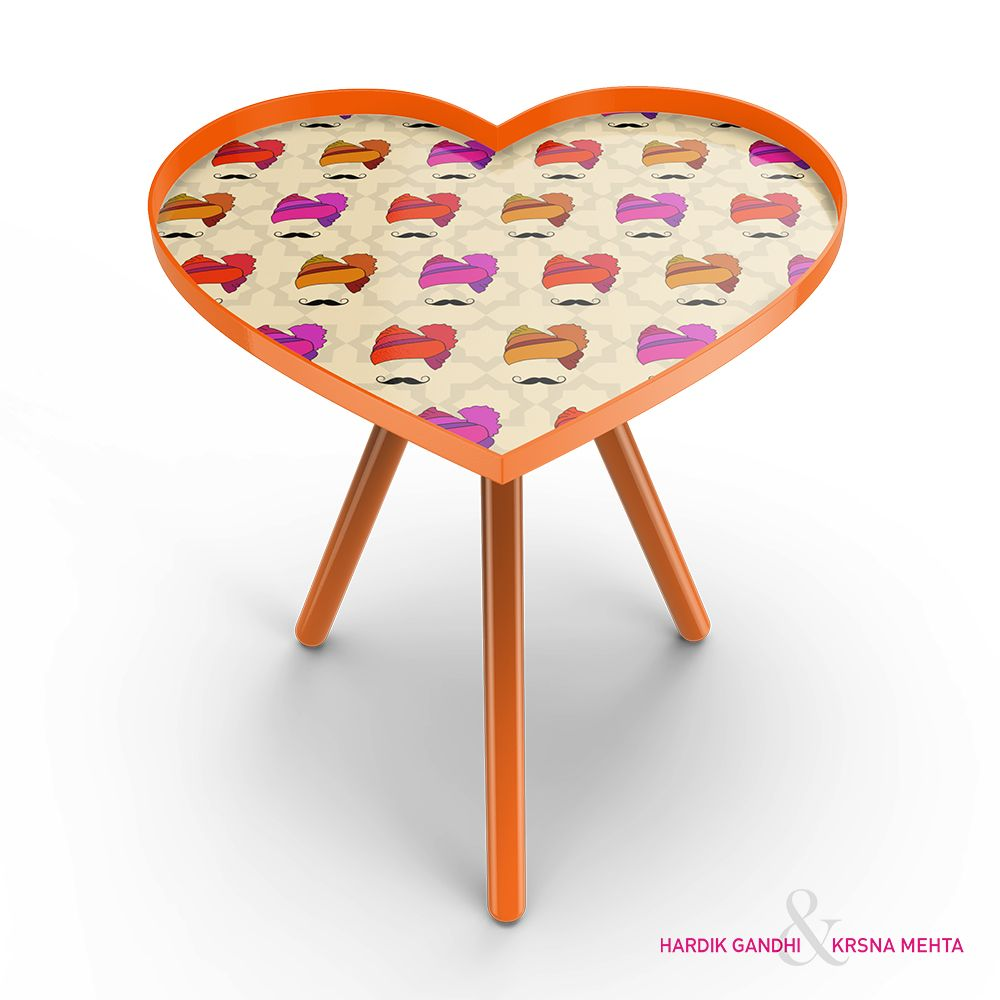 Hipster Singh Heart Side Table