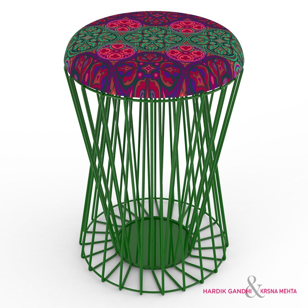 Kuheli Floral Magic Sitting Stool