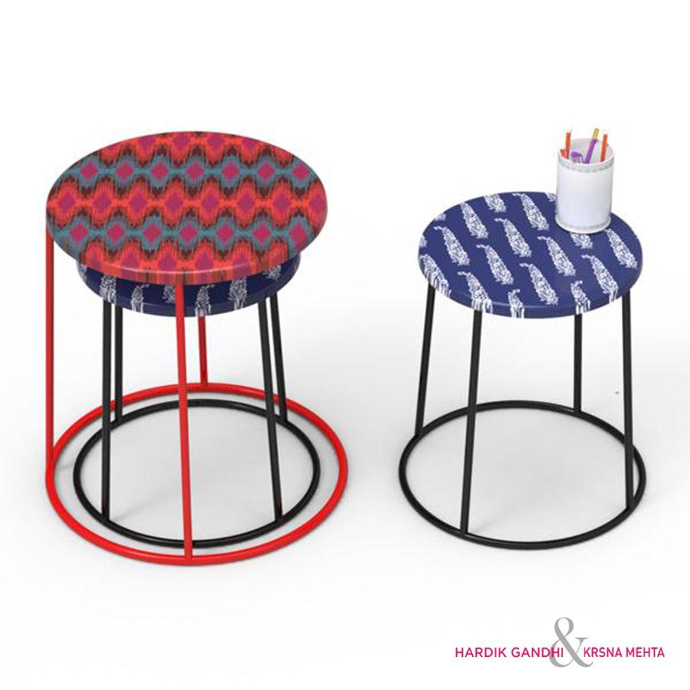 Kuheli Perfect Paisley Round Side Table