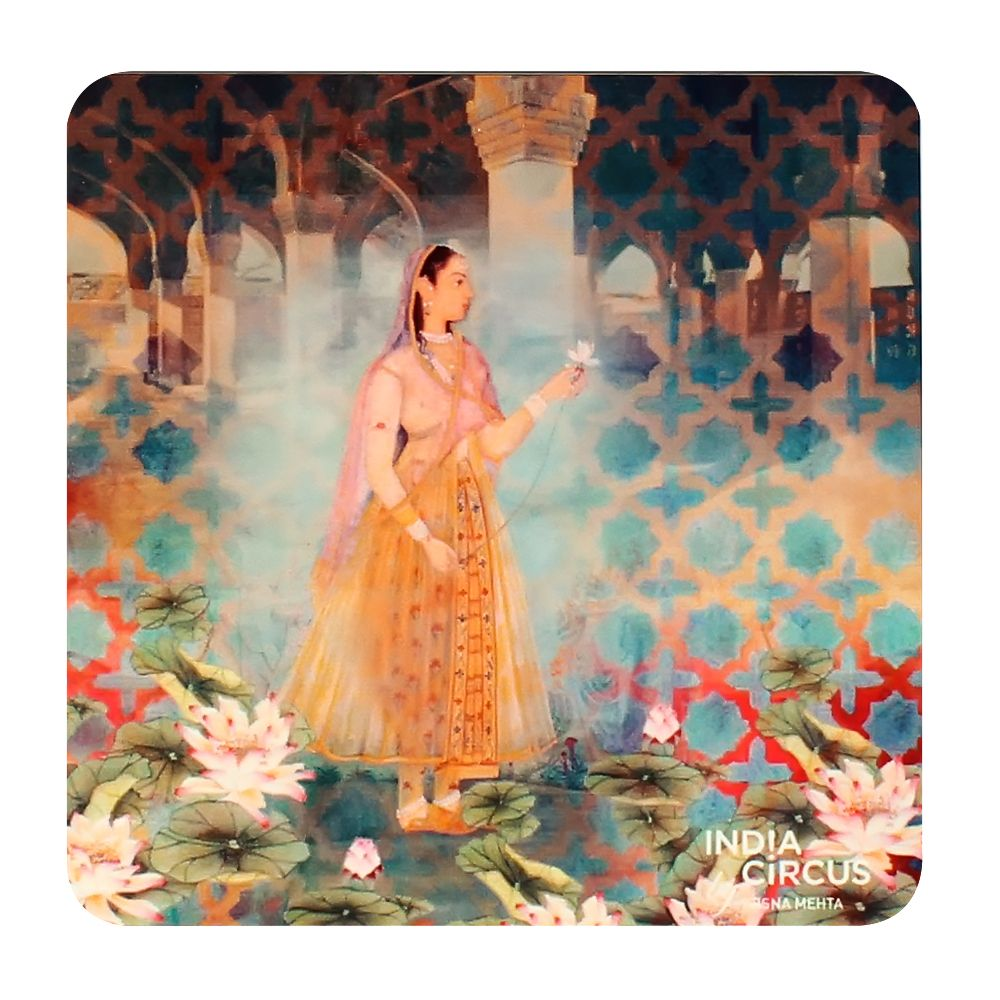 Lotus Courtesan MDF Coasters