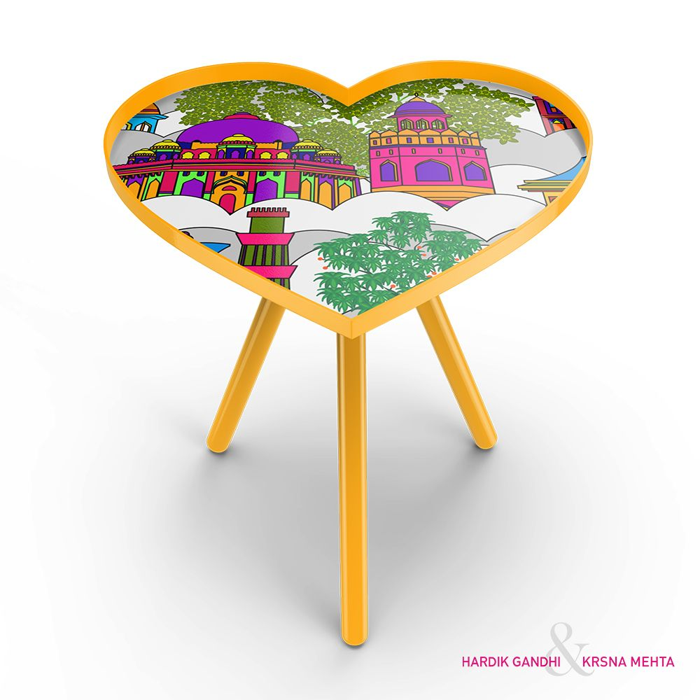 Namaste Sky Line Heart Side Table