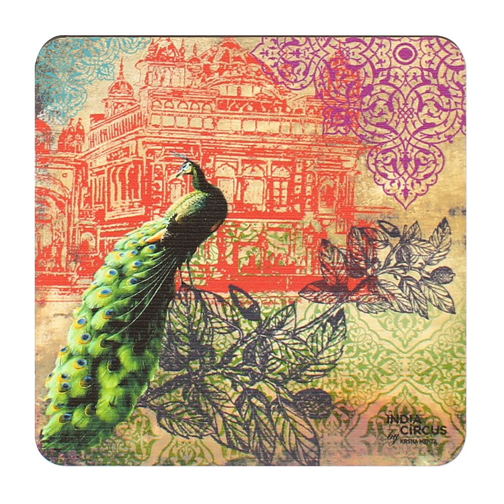 Peacock Saga MDF Coasters - (Set of 6)