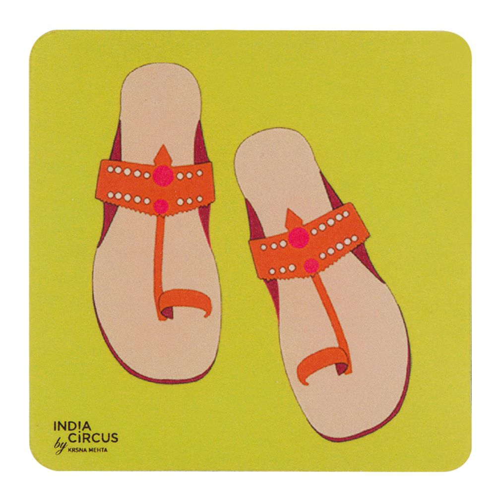 Pop-Slippers Rubber Coasters - (Set of 6)