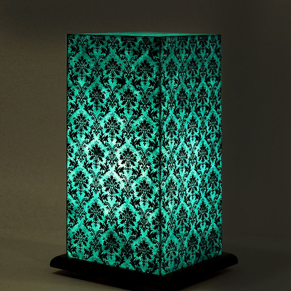Pretty Paisely Blue Table Lamp