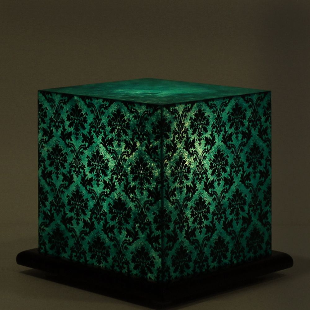Pretty Paisely Green Table Lamp