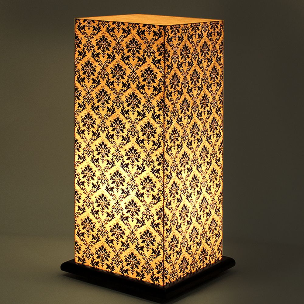 Pretty Paisely White Table Lamp