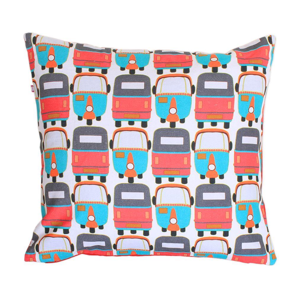 Rickshaw Masti Kids Cushion Cover