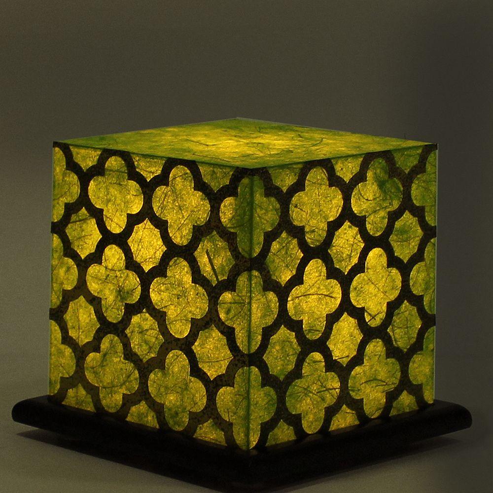 Serenity Green Treillage Table Lamp