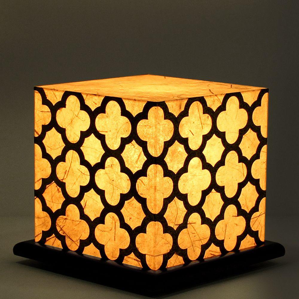 Serenity White Treillage Table Lamp