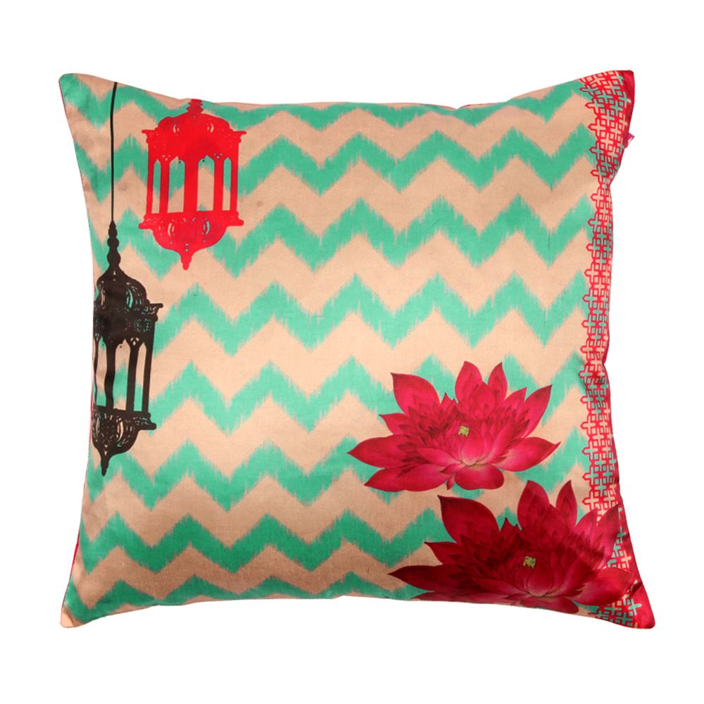 Tamara Lotus Lamps Polysilk Cushion Cover -13075